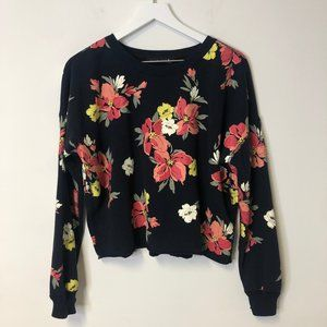 Abercrombie & Fitch Floral Crewneck Sweatshirt